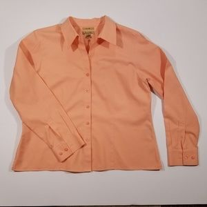 Westbound Petites 14P Peach Button Down
